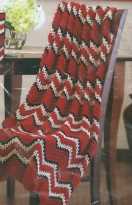 """Herrschners """"Language Of Color Ripple Club"""" STIMULATING RED Afghan""""  Kit"""