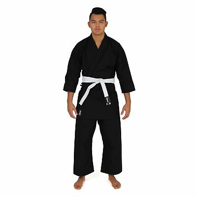 NEW SMAI Karate Uniform/Gi - Black 12oz High Quality Cotton and Polyester Can...
