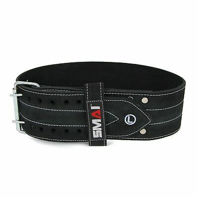 NEW SMAI Weightlifting Belt - Premium Leather Weight lifting bodybuilding bac...