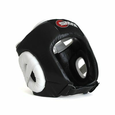 NEW SMAI Pro85 Boxing Head Face Guard Helmet Genuine Leather - MMA Kickboxing...