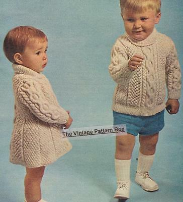 Aran Jumper Dress Knitting Pattern : BABY HOODIE detachable / 6 -12 months - 8ply or D.K.- COPY baby knitting patt...