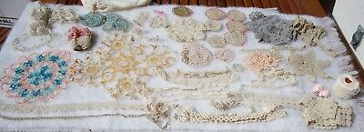 Huge Lot Vintage Estate TATTED LACE & Doilies Variety Sizes/Colors