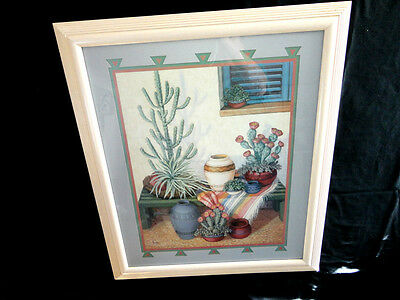 Home Interiors Large ''Southwest Pots & Cactus '' Picture   23.5'' x 27.5''