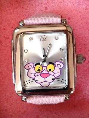 NEW Pink Panther Watch with Crystals and Pink Band in Tin MGM