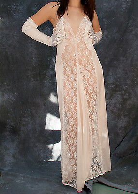 Val Mode Sheer Negligee/Long Gown; Style 9251, chemise, peignoir
