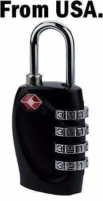 Padlock Combination Security Luggage Lock Travel Suitcase Code Bag Password Keys