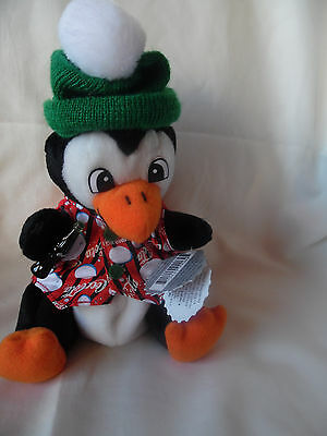 """Collectible Coca Cola Penquin Stuffed Animal, 8"""" Tall, NEW w/tags"""
