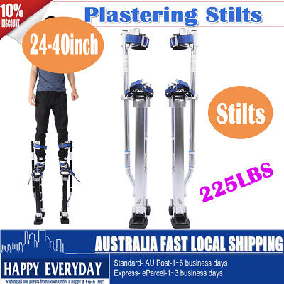 "24-40"" Plastering Stilts Large Size Aluminum Drywall Painter Builders Silver AU"