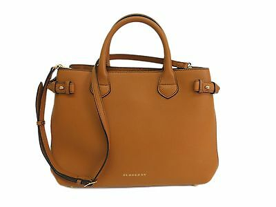 Authentic BURBERRY Medium BANNER HOUSE CHECK TAN SHOULDER BAG TOTE