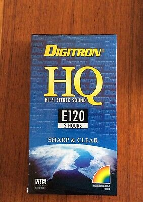 1 blank video VHS  tape Digitron E120 new and sealed