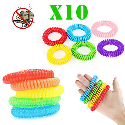 10* Mosquito Insect Non-Toxic Natural Repellent Wrist Band Bracelet Waterproof