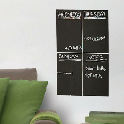 4PCS Chalkboard Contact Paper Large Blackboard Paint Sticker Home Wall Decal