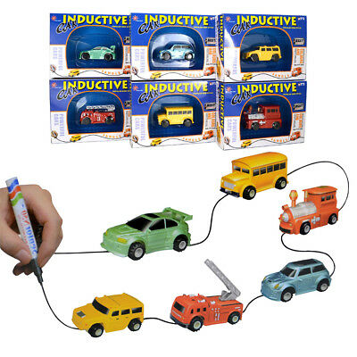 Magic Pen Car Follow Any Drawn Line Mini Truck Bus Tank Kid Gift Inductive Toy