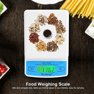 3kg Electronic LCD Display Digital Jewelry Scale Kitchen Food Weighing Balance