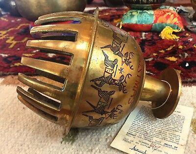 """9"""" VERY LARGE  ELEPHANT Bell, VINTAGE, Brass,  Authentic,from India, w/tags"""