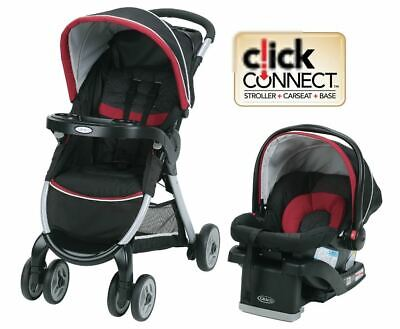 Graco FastAction™ Fold Click Connect™ Travel System - Weave