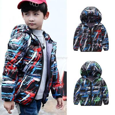 Baby Hoodie Camouflage Winter Warm Coats Boys Long Sleeve Outwear Jacket Clothes