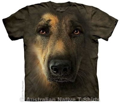 German Shepherd Portrait T-Shirt in Adult Sizes - Dog Breeds by The Mountain