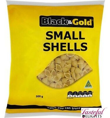 Black & Gold Small Shells 500gm x 12
