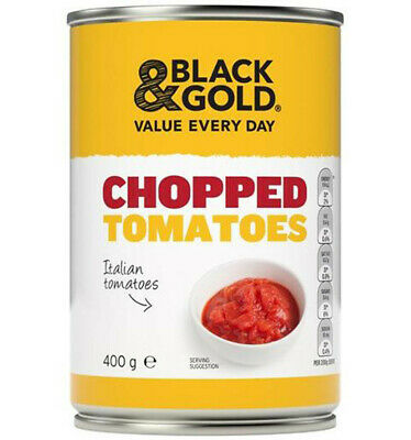 Black & Gold Chopped Tomatoes 400gm x 12