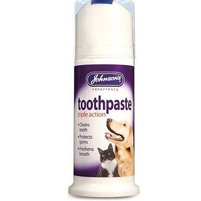 Johnsons TRIPLE ACTION DENTIFRICE POUR CHIENS & CHATS Bad Breath tartre