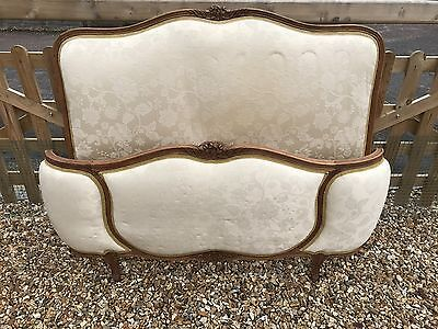 Vintage French Demi Corbeille Upholstered Bed - DOUBLE