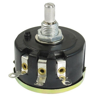 WX050 10K ohm 5W 6mm Round Shaft Rotary Wire Wound Potentiometer Black+Silv M6Z9