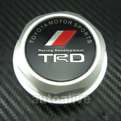 TRD Engine Oil Filler Cap Fuel Intake Cover Tank for Toyota Lexus Scion Silver