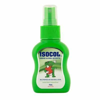 Isocol Rubbing Alcohol 75ml Spray Bottle Antiseptic Disinfectant Spray Cleanser