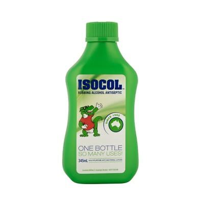 Isocol Rubbing Alcohol 345ml Bottle Liquid Antiseptic Disinfectant Cleanser