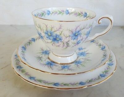 Tuscan Trio 'Love In The Mist' - Cup, Saucer, Plate