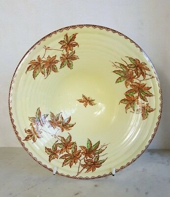Large Maling Honey Glaze Centrepiece Bowl 'Golden Spray'