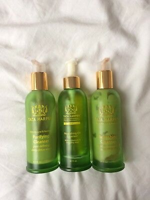 Lot de nettoyants Tata Harper nourishing oil refreshing purifying cleanser green
