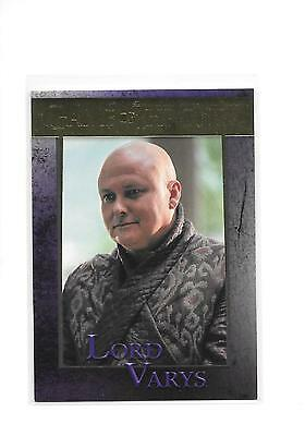 Game of Thrones Season 5 Lord Varys #42 Gold Parallel 84/150