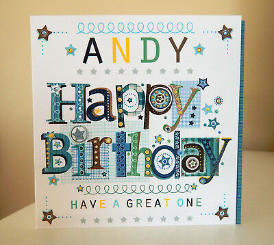 Birthday Boy Personalised Card Special For A Man Male