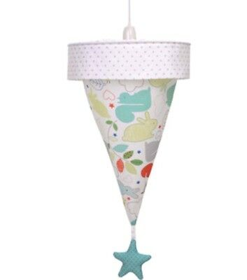 *New* Tickety Boo Fabric Uplighter Lampshade Light Shade Neutral Nursery Range