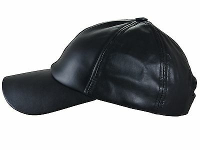 Thor Equine Leather Cap Basic Western Baseball Cap Black