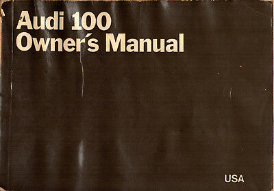 1970 Audi 100 Original Owner's Manual
