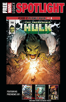 Legacy Marvel Oct Previews Spotlight (2017) 1St Printing Bagged & Boarded