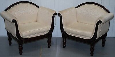 Pair Of Rosewood Framed Vintage French Armchairs Upholstery Repair Restoration