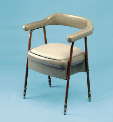 Gordon Ellis Ashby Height Adjustable Commode Chair in Oatmeal