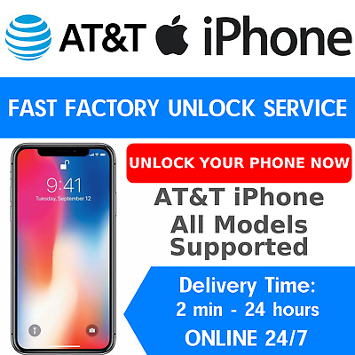 Att Premium Factory Unlock Code Service At&T For Apple Iphone X 8 7 Se 6S 6 5S