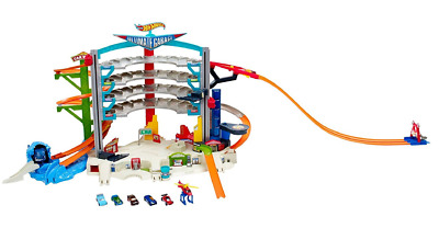 Hot Wheels Ultimate Garage Playset - Mega Parking Lot Track +5 Diecast Toy Cars
