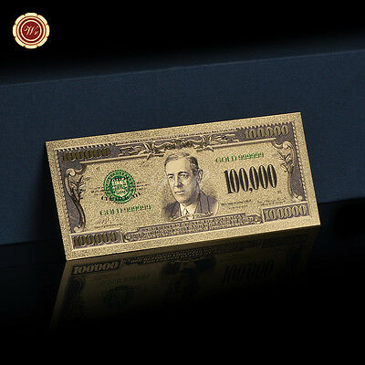 WR $100,000 Dollar Bill Collectible Gold US Money Novelty Banknote Xmas Gifts