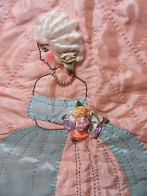 Elegant Silk Quilted Southern Belle Panel