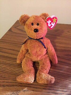 TY Beanie Baby Babies FUZZ Bear NEW Condition Retired w/errors