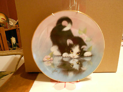 """9 Inch Tall """"Rainy Day Friends"""" Decorative Plate"""