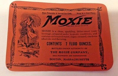 Moxie Soda-Lot of 10 Old 7 oz Labels-NOS,2nd Version Food Drug ACT-w/Ingredients