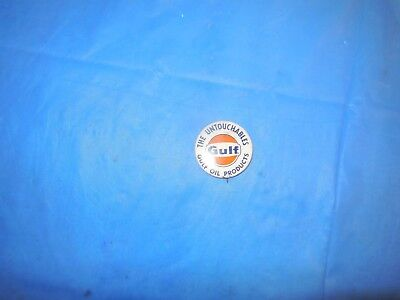 """Gulf Oil """"the Untouchables"""" Advertising Pin!!! Super Display Item!!!!"""