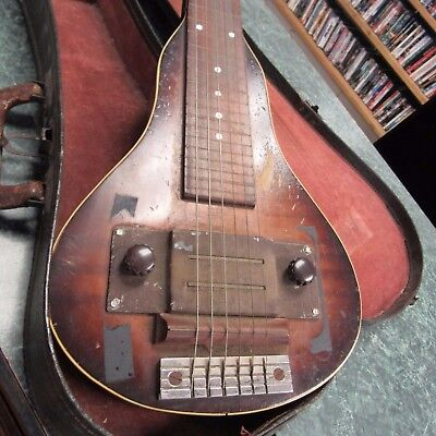1930's 1940's  Recording King / Regal Made Lap Steel Electric Guitar Vintage
